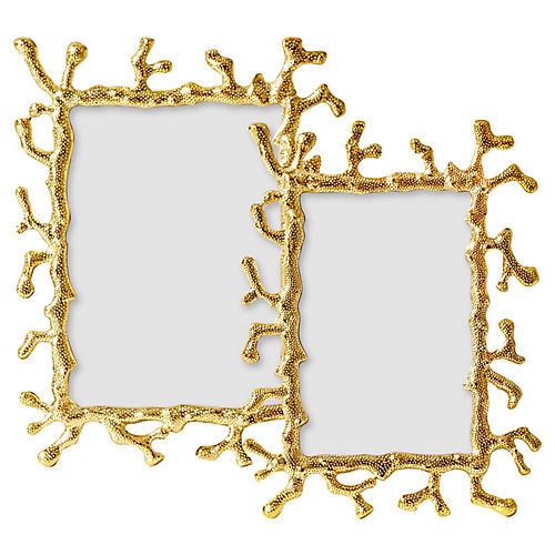 Asst. of 2 Coral Frames, Gold