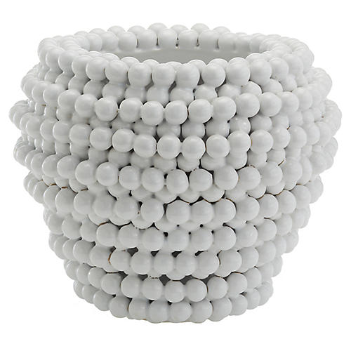 "10"" Lina Planter, White"