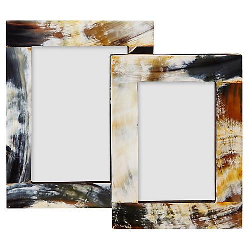 Asst. of 2 Litzy Frames, Natural/Multi