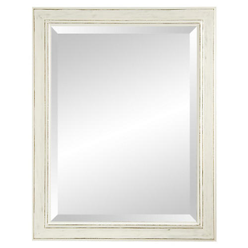Classic Wooden Mirror, Pearl