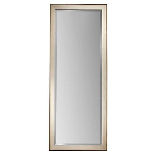 Alessandra Floor Mirror, Silver