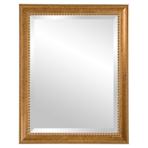 Irene Wall Mirror, Antiqued Gold