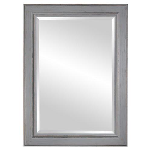 Wooden Mirror, Silver