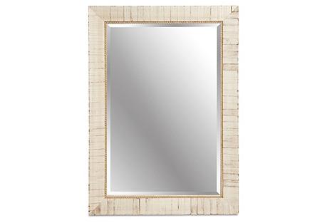 Wooden Mirror, Ecru