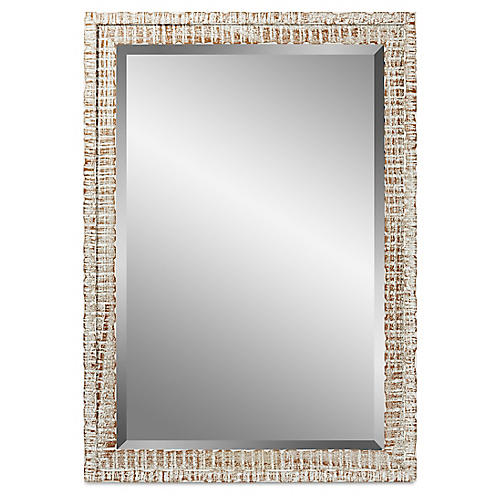 Weathered Mirror, White