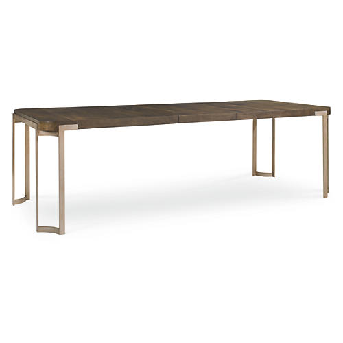 "Alina 80-100"" Dining Table, Russet"