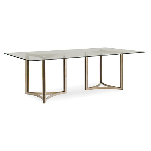 """Ambra 96"""" Dining Table, Pewter"""
