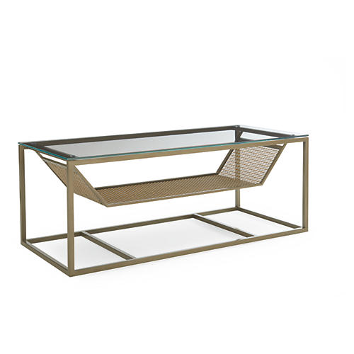 Daria Coffee Table, Pewter