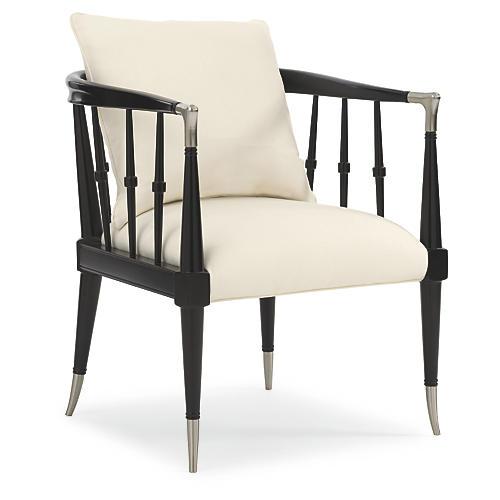 Leone Accent Chair, Black
