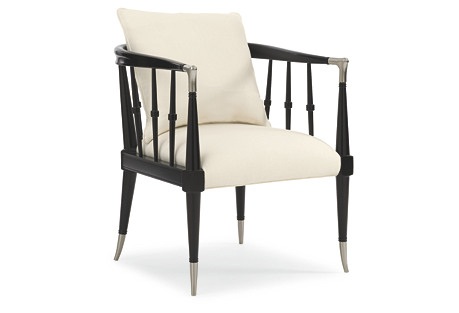 Leone Accent Chair, Black