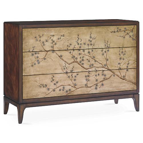 Blossom Chinoiserie Dresser, Cherry
