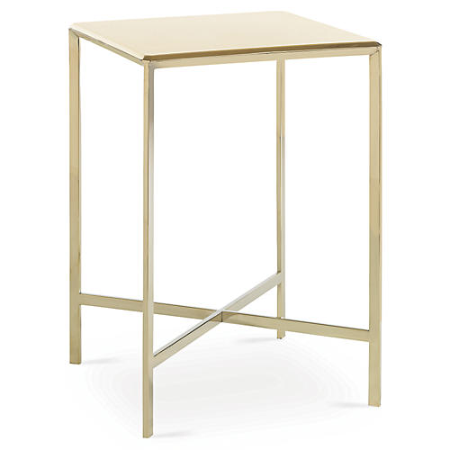 Beveled Side Table, Gold Bullion