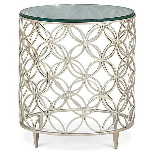 Cortland Side Table, Chalice Silver