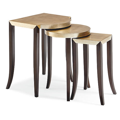 S/3 Multiple Choice Nesting Tables, Gold