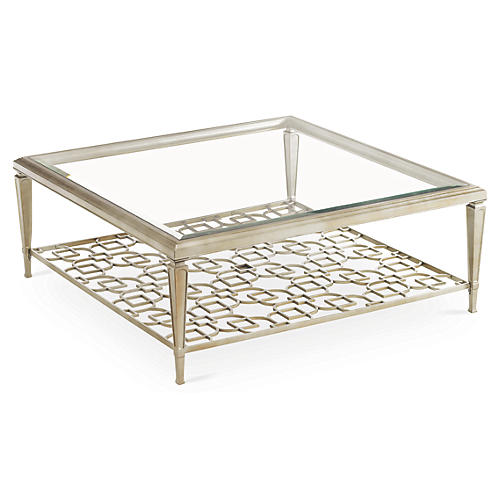 Social Square Coffee Table, Taupe