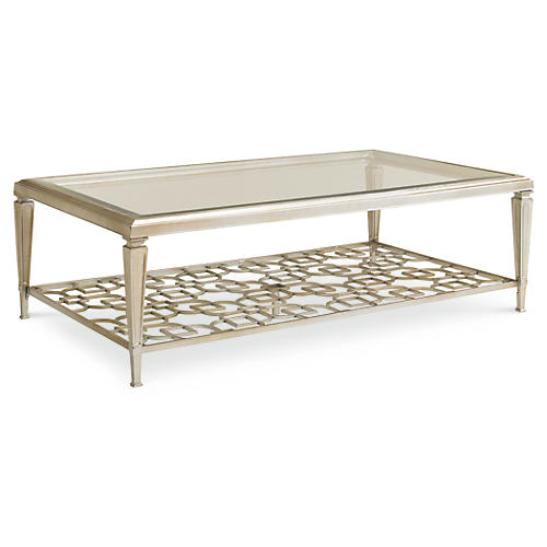 Social Rectangular Coffee Table, Taupe