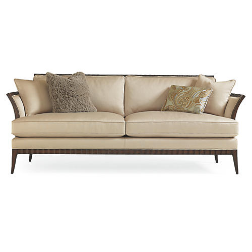 "Bridge 85"" Quilted Sofa, Parchment"
