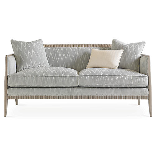Reed Sofa, Sky Blue