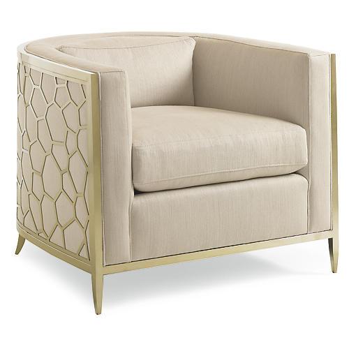 Sebastian Club Chair, Off-White