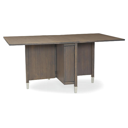 Grayson Compact Table, Metro Brown