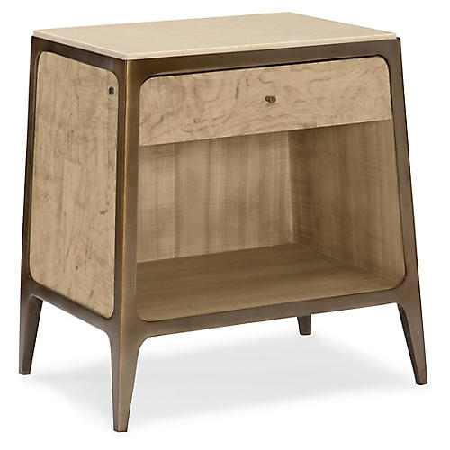 Gale Nightstand, Olive Ash