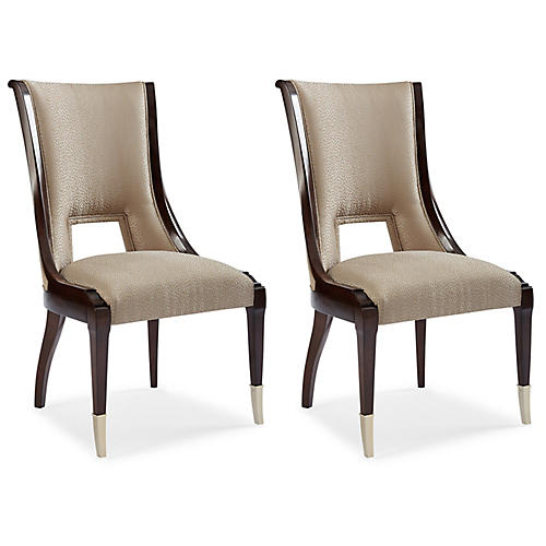 S/2 Ontario Side Chairs, Taupe