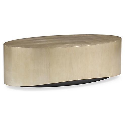 Whalton Coffee Table, Silver/Gold Leaf