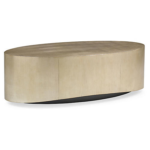 Whalton Coffee Table, Silver/Gold Leaf