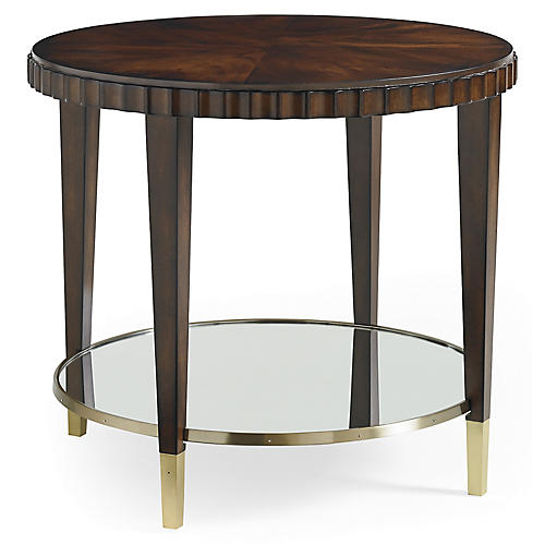 Glimpse Side Table, Mahogany
