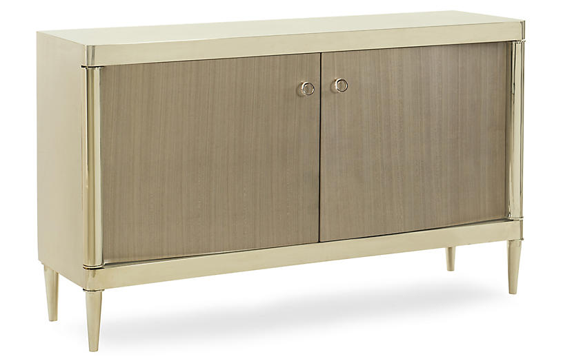 Hello Handsome Sideboard, Gold/Gray