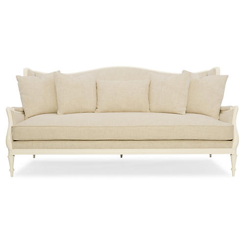 Southern Sofa, Ivory Linen