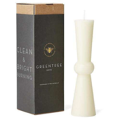 Josee Tall Pillar Candle, Cream