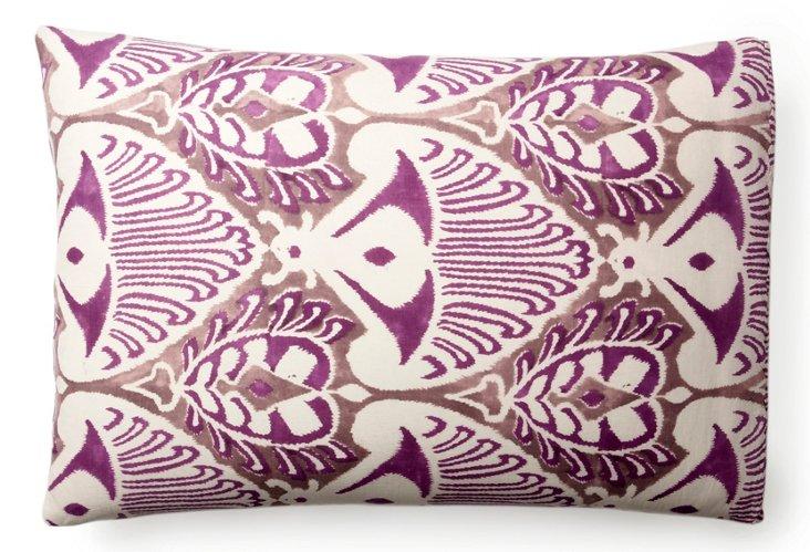 S/2 King Pillowcase Printed, Purple Ikat
