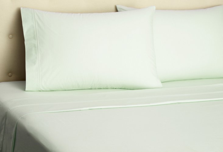 500TC Percale Sheet Set, Celadon