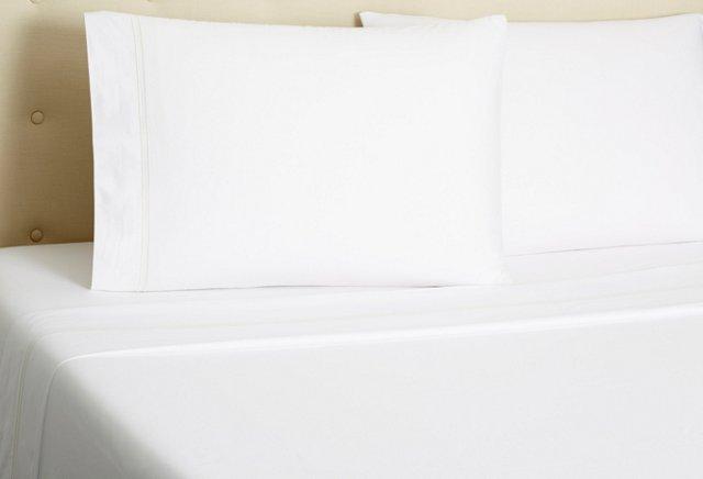 Hotel Embroidered Sheet Set, Ivory