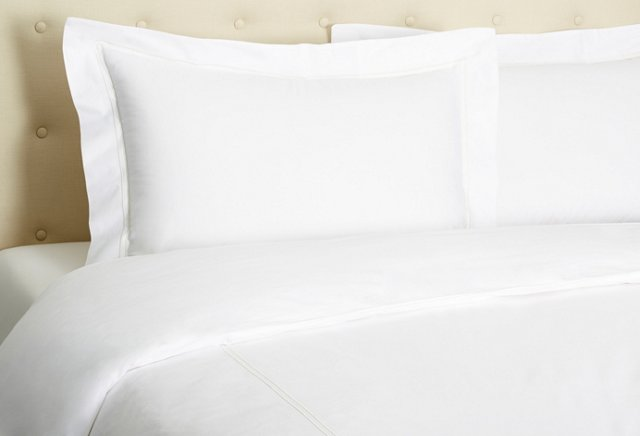 Hotel Embroidered Duvet Set, Ivory