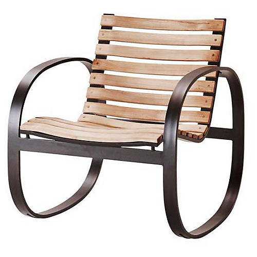 Parc Rocking Chair, Lava Gray