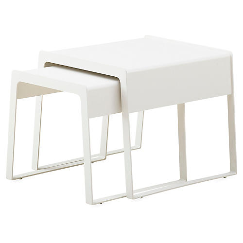 Asst. of 2 Chill-out Nesting Tables, White