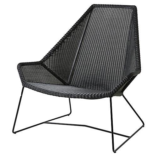 Breeze Highback Club Chair, Black