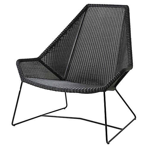 Breeze Highback Club Chair, Black
