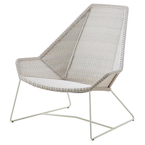 Breeze Highback Club Chair, White