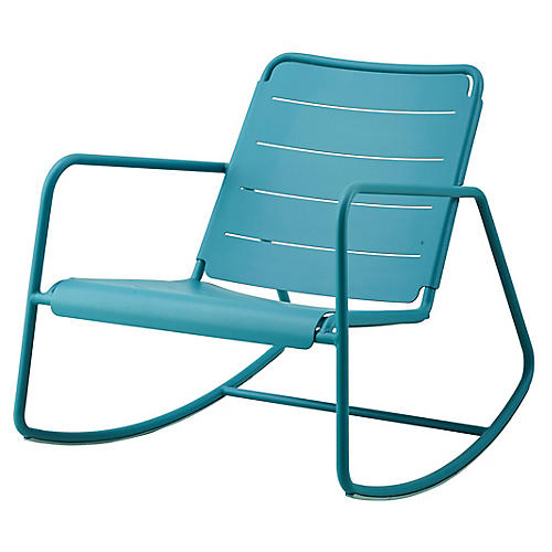 Copenhagen Rocking Chair, Aqua