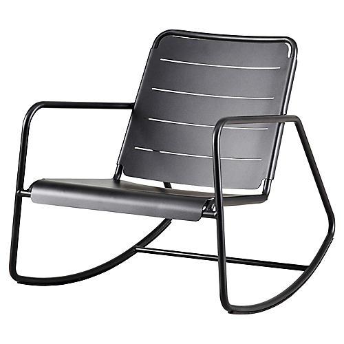 Copenhagen Rocking Chair, Lava Gray