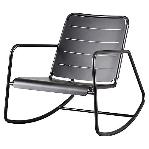 Copenhagen Rocking Chair, Lava Gray