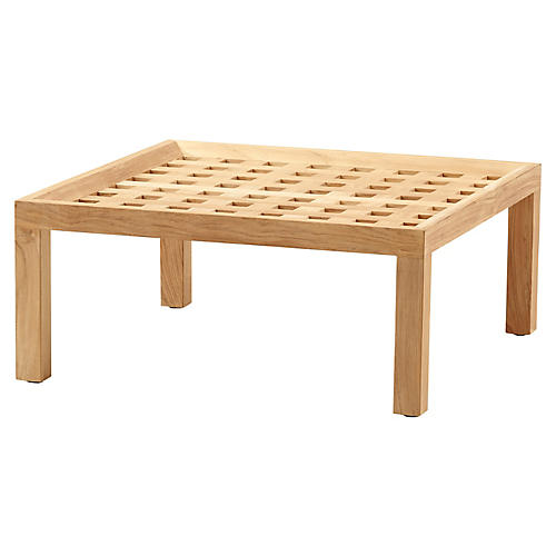 Square Coffee Table, Natural