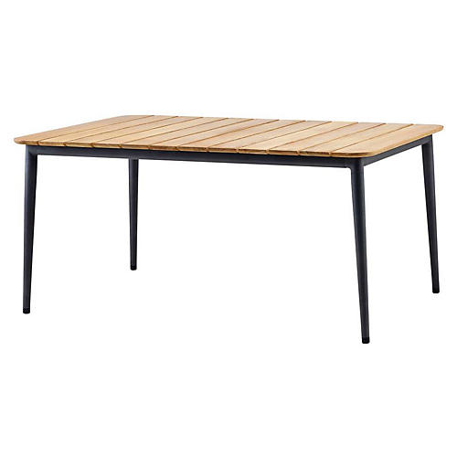 Core Dining Table, Lava Gray