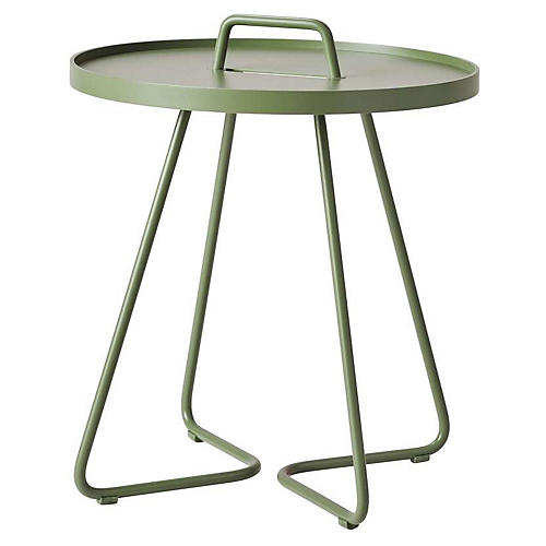 On-The-Move Side Table, Olive Green