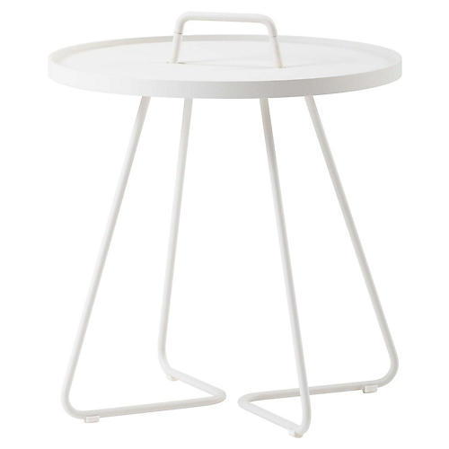 On-The-Move Side Table, White