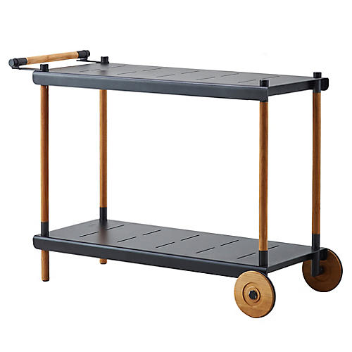 Frame Bar Cart, Lava Gray