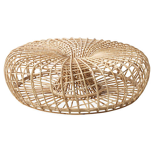 Nest Large Ottoman, Natural